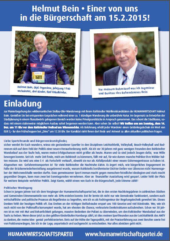 Bürgerschaftswahlen  – Flyer