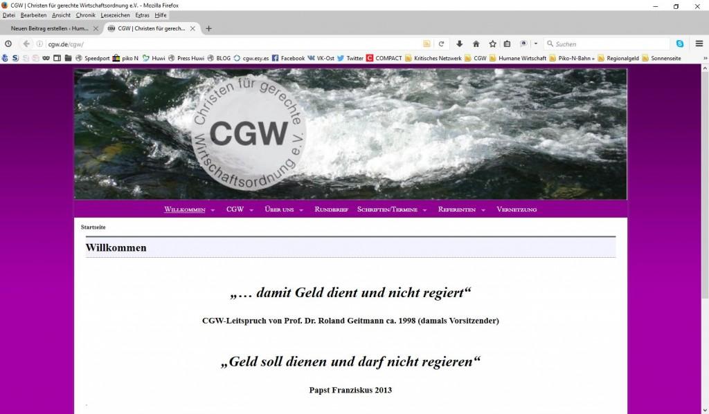 CGW-Webseite